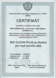 Certifikát Bio Clean Plus